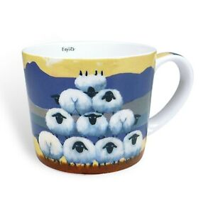 Thomas Joseph Mug, Eejits, Sheep Mug, Bone China, 325ml, Irish Gift
