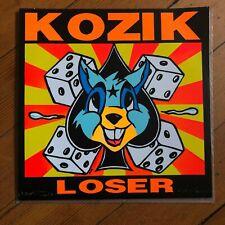 "Frank Kozik Sonic Boom Loser 7"" Vinyl 45rpm Record SFTR 191 Signed"
