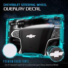 Flat Matte Steering Wheel Emblem Bowtie Decal Fit 2014-2018 Chevy Silverado