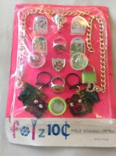 Folz  Vending Googly Eyed Mechanical US Rings Spinning Tops Tiny Games Dexterity