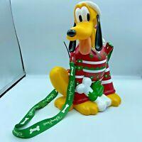 Christmas Popcorn Bucket Disneyland Disney Parks Christmas Pluto Rare FLAW READ