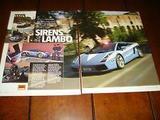 2005 LAMBORGHINI GALLARDO ITALIAN STATE POLICE PURSUIT CAR **ORIGINAL ARTICLE***