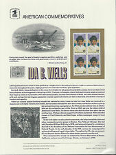 # 2442 IDA B. WELLS Black Heritage Civil Rights 1990 COMMEMORATIVE PANEL