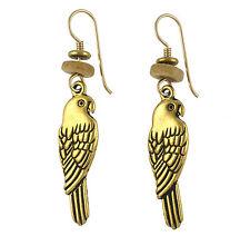 NEW Laurel Burch LORIKEET Pewter & Antiqued Gold Bird Parakeet Retired Earrings