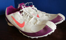 NIKE Track & Field~ZOOM RIVAL MD~White w/ Purple ~Running Shoes~Size Men's 15