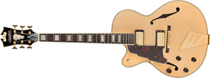 D'Angelico Excel DH Left-Handed Hollow Body Guitar - Natural