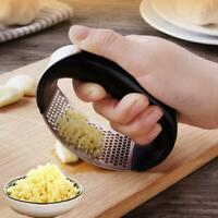 Garlic Press Chopper Slicer Hand Presser Grinder Crusher Home Kitchen Tool Black