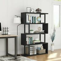 Tribesigns 4 Tiers Folding Bookshelf Modern Bookcase Display Storage Organizer