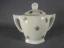 Ancien sucrier bonbonnière porcelaine florale art pop french antique pottery