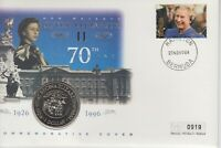 1996 Queen 70th Birthday first commemorative cover CCC $1