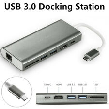 Usb3.0 Hdmi Hub Docking Station With Gigabit Ethernet For Mac/Windows/Laptop/Pc