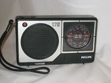 vintage PHILIPS 172 LW GO MW PO radio battery powered htf retro dial electronic