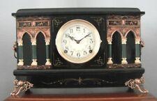Old Antique Sessions Black Mantel Shelf Clock Manhattan 1920 Fully Restored