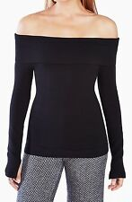 New with tag $178 BCBG Max Azria Astria Off-The-Shoulder B1269 Sweater TOP Sz S