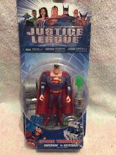 very rare 2004 justice league figures cyber trakkers superman vs kryptobot