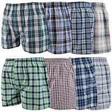 Mens Woven Check Boxer Shorts Underwear Breif Short Premium Quality Trunk S-5XL