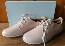 Womens 7.5 M Clark's Tennis Shoes UnCoral Blush Pink Leather Flat in Box $110