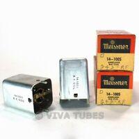 NOS NIB Vintage Lot of 2 Meissner 14-1005 Shielded RF Coils Transformers