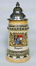 German Lidded Mini Stein, Bayern