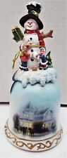 """Lovely Snowman 8.25"""" Porcelain Bell by Transpac"""