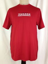 Houston Texans Performance Mens Compression Shirt L Under Armour 1288445-610 New