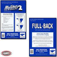 25 - GERBER FULL-BACK & MYLITES 2 SILVER & GOLD Bags & Boards 750FB/775M2 <50