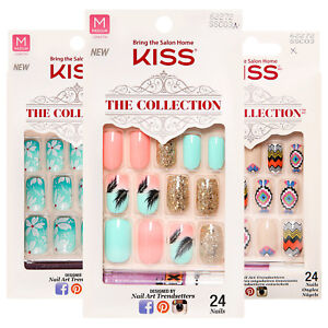 Kiss The Collection Medium Length Nail Kit - Assorted Styles - No Glue