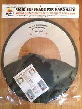 Rigid Sunshade For Protector HC600 Hard Hats -  Green/White Snap Brim Hat