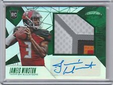 2015 Certified Jameis Winston RC AUTO SICK PATCH EMERALD 4/5 Bucs 2017 Air Show