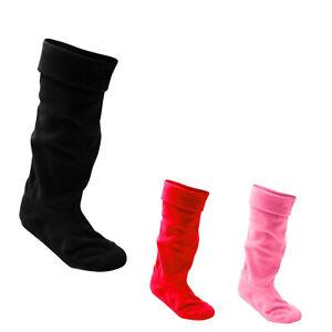 Women's  Ladies Fleece Wellie Wellington Boot Socks Liner Welly Warm 4-7 UK