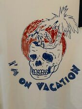 NWT John Varvatos Star USA Large I'm On Vacation Tropical Skull Graphic T Shirt