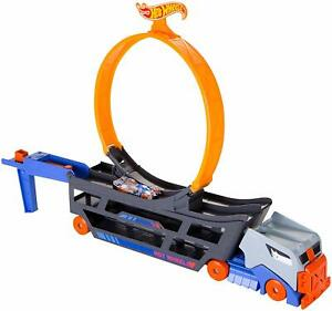 Hot Wheels Stunt and Go Transporter Track Set Truck Kid Toy Gift