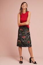 NWT in Bag Anthropologie $148 Garden Sequin embroidered skirt size 0-Fast Ship