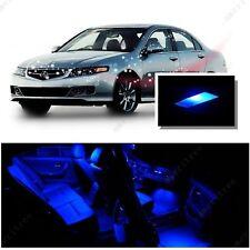 For Acura TSX 2004-2008 Blue LED Interior Kit + Blue License Light LED