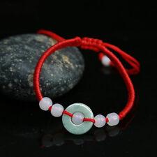 Emerald Fashion Jade Red Rope Bracelet Hand-woven Bracelet Natural Stone