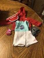 American Girl Girl Of The Year 2009 Chrissa Warm-up Set Complete EUC RETIRED