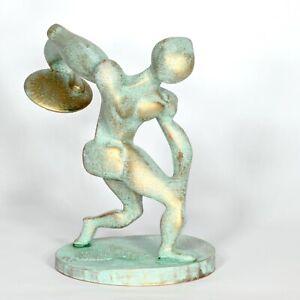 """sculpture unique """"Discus thrower"""" 22cm Andreas Loeschner-Gornau"""