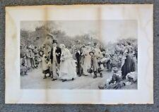 Xtra Large 1885 Engraving A Village Wedding by Luke Fildes England Bride & Groom