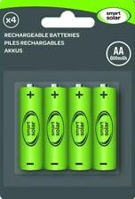 4x AA SOLAR LIGHT RECHARGEBLE BATTERIES by SMART GARDEN 600mAh GARDEN LIGHTS