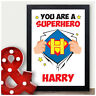 Superhero Personalised ANY Name Birthday Gifts for Boys Him Son Grandson Present