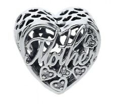 Authentic Pandora Mother & Son Bond Charm W/ Pandora TAG & HINGED BOX #792109CZ