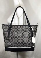 Coach Peyton Signature Perforated Zip Top Tote Shoulder Bag Handbags F29886