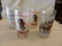 Set of Four 1996 Kentucky Derby, Preakness, Belmont Stakes Mint Julep Glasses