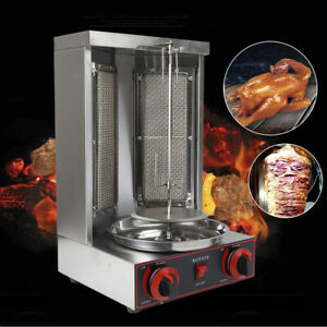 Gas Vertical Broiler Shawarma Machine Spinning Doner Kebab Gyro Grill Machine US