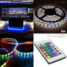 5M RGB 60 LED Streifen Licht LED Lichterkette wasserfest Garten Terrasse mit FB