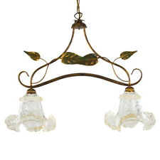Hanging Chandelier Style Shabby Chic with Glass of Murano Authentic Bright