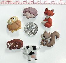 Woodland Friends Animals Novelty Buttons #538