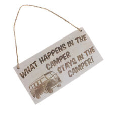 Hanging Plaque Gift Sign Outdoor Decoration-What Happens In The Camper