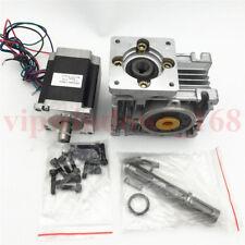 Worm Gear Nema23 Stepper Motor L56mm 11nm Gearbox Ratio 101 3a Speed Reducer