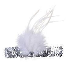 Burlesque Womens Flapper Headbands Red Black Silver Fancy Dress Accessory
